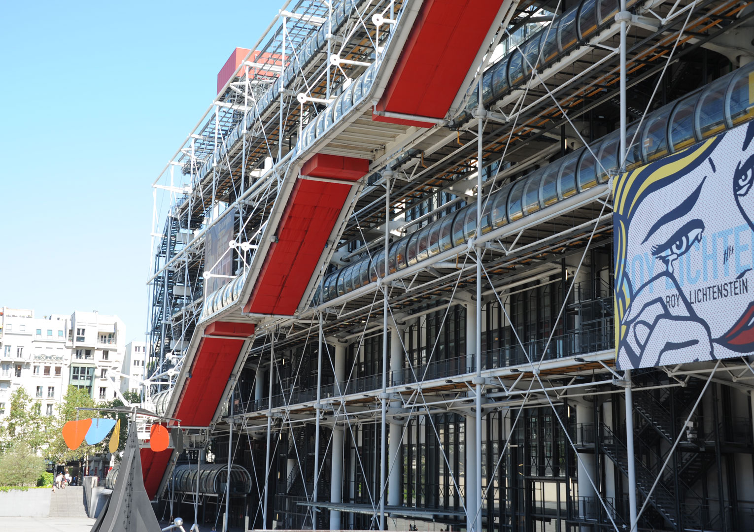 View on Beaubourg, Georges Pompidou center
